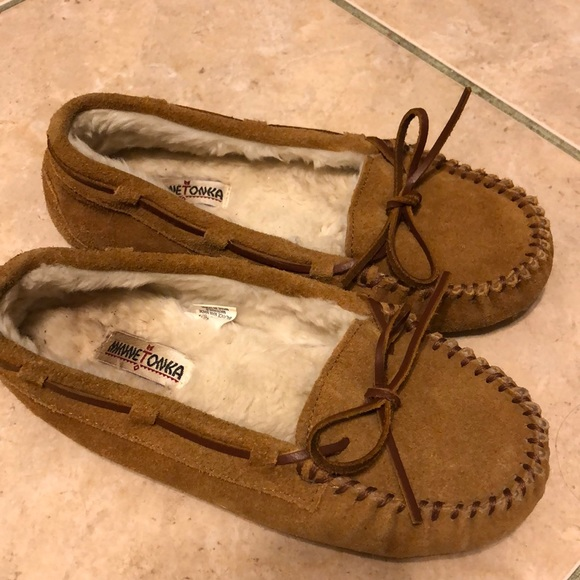Authentic Leather Moccasin Size 4